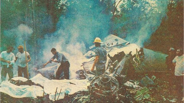 Midair collision claimed 82 lives on July 19, 1967