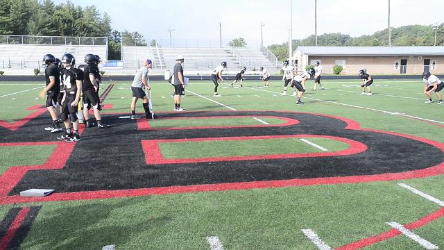 North Buncombe football practice