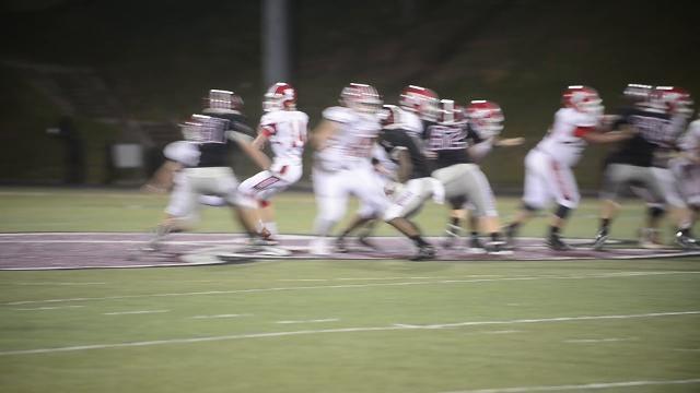 Asheville high school's football game against Franklin High School