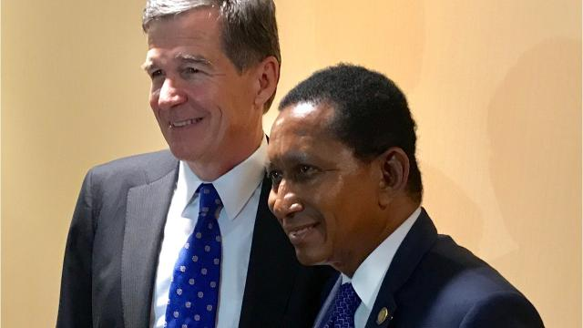 Gov. Roy Cooper was the keynote speaker at Saturday nights Western Gala of the North Carolina Democratic Party on Oct. 7, 2017.