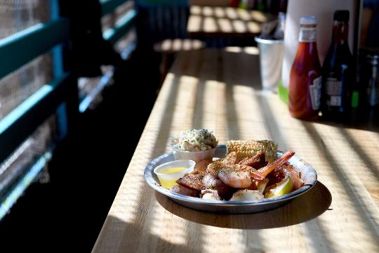 Dining reviewer Matthew DeRobertis checked out the Surf N Brew Oyster Bar in Fletcher.