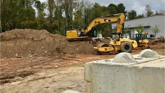 A reader wants to know what's being built along Sweeten Creek Road, not far from I-40.