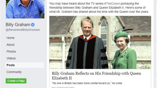 "A reader wants to know if evangelist Billy Graham and Queen Elizabeth of Great Britain were actually friends, as depicted in the Netflix series ""The Crown."""