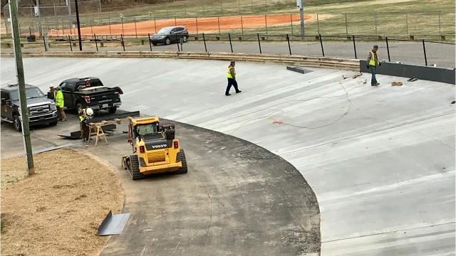 A $1.3M renovation project at the Carrier Park velodrome is nearing completion.