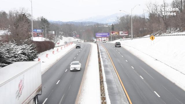 West Asheville dug itself out after snowfall on Wednesday, Jan. 17, 2018.