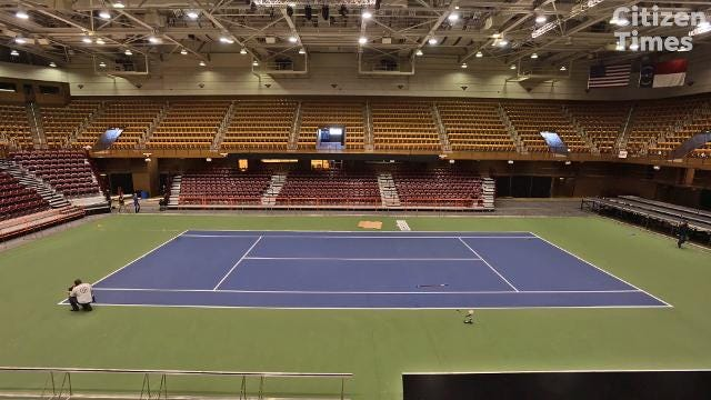 Fed Cup court preparations
