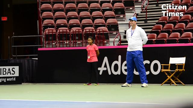 Twentyyoung tennis players from the Asheville area were chosen to act as ball kids during the 2018 Fed Cup.