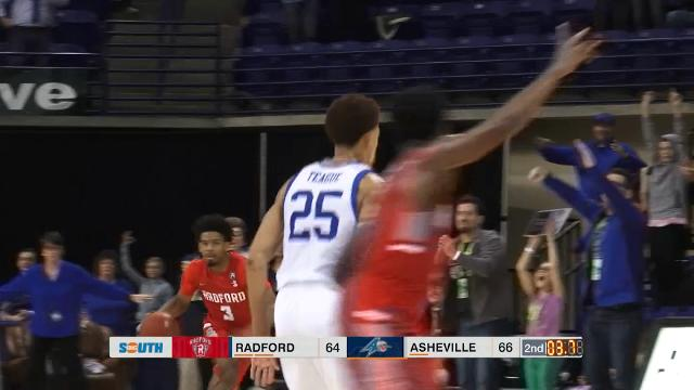 Here's how UNC Asheville took down Radford thanks to a last-second shot.