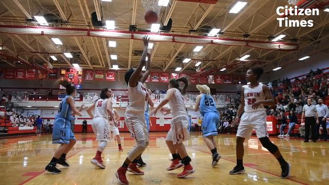 Erwin and Enka faced off in a girls WMAC semifinal game at Erwin High School on Wednesday, Feb. 14, 2018.