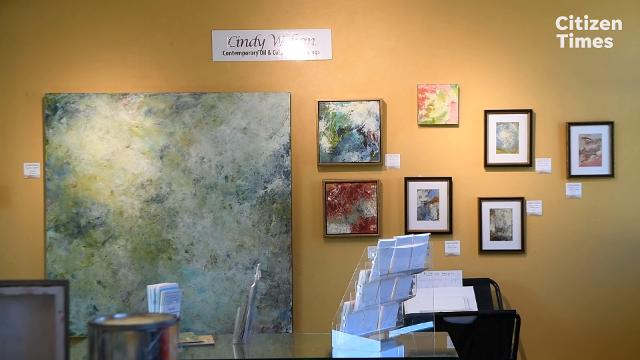 Cindy Walton paints abstractions of nature in her studio in the River Arts District.