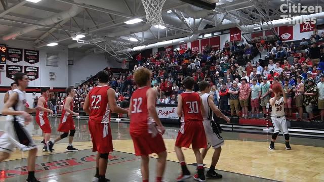 Pisgah defeated Franklin in the first round of playoffs February 20, 2018 in Canton. Pisgah won, 57-67