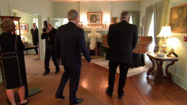 George W. Bush visits with Franklin Graham