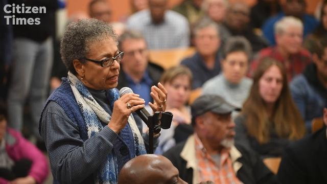 Hundreds of people packed into the Dr. Wesley Grant Sr. Southside Center Auditorium to express their outrage at a Citizen Police Advisory Committee meeting March 7, 2018.