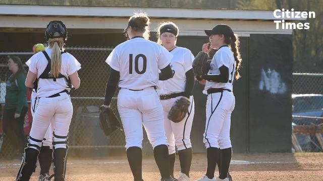 North Buncombe's softball game vs. Reynolds. North Buncombe won 2-0 in seven innings.