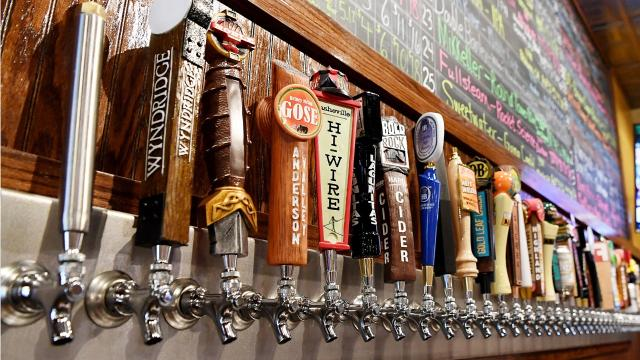 The Casual Pint on Hendersonville Road in South Asheville offers 35 beers on tap, hundreds of options to make your own 6-pack and a full food menu.