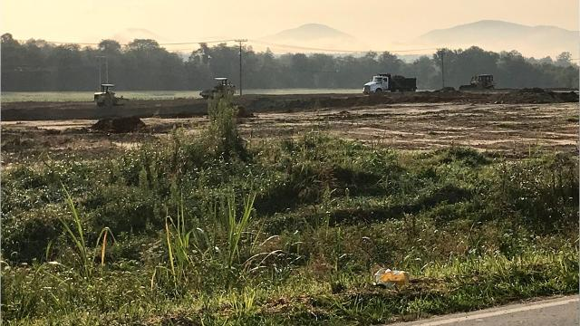 A major grading project in the Broadpointe Industrial Park has piqued the interest of a reader.