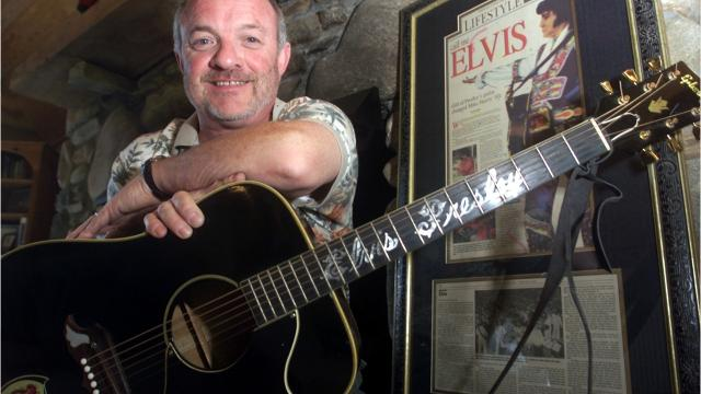 Elvis Presley gave Asheville resident Mike Harris a customized Gibson acoustic guitar during a 1975 performance at the Asheville Civic Center. Harris kept it for 41 years.