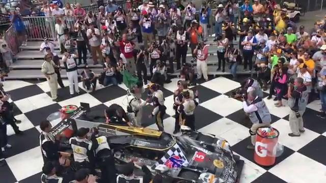 Video: Action Express team celebrates Six Hours win