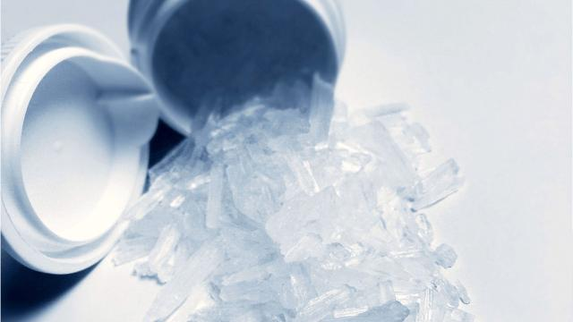 Two men were charged with felonies after police reportedly found a one-pot meth lab.