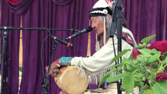 Jones Benally, a legendary hoop dancer who has practiced his art for more than 75 years, travels the with his family, performing at festivals and events as a cultural ambassador sharing Navajo culture and song.