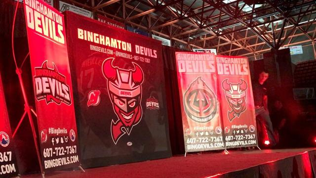 VIDEO: Binghamton Devils reveal new design at open house