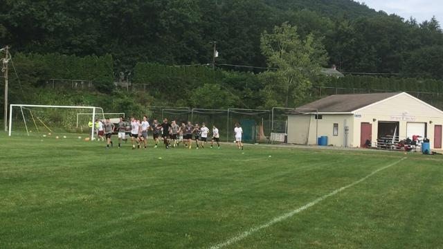 Video: Elmira boys soccer practice starts