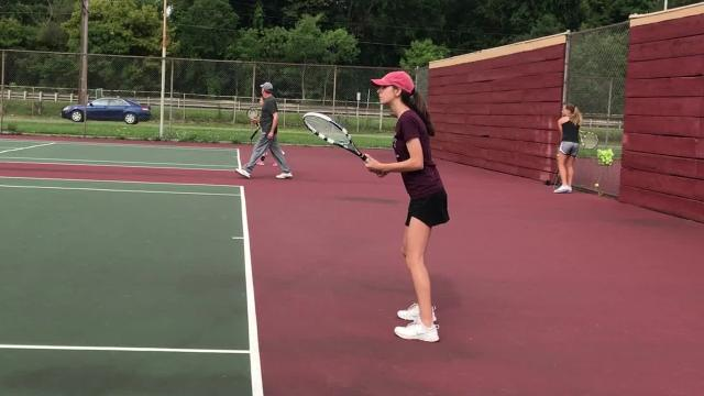 The Ithaca High School girls tennis team held tryouts on Monday, Aug, 14. The team is coached by Arthur Falkson.