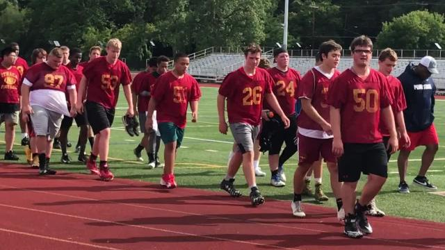 The Ithaca High School football team opened its season with two practices on Monday, Aug. 14.