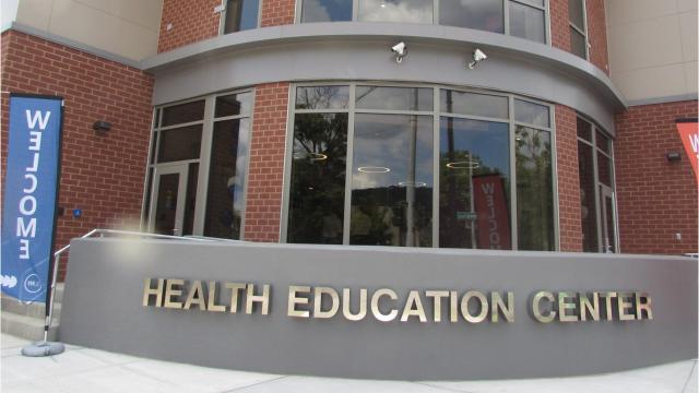 Corning Community College cut the ribbon to officially open its new health education center Wednesday.