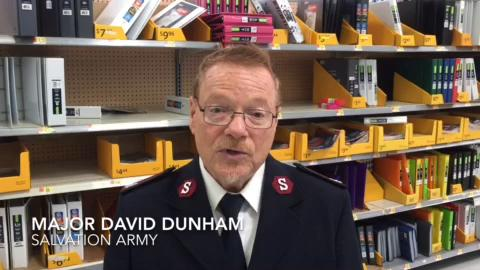 Footage of the Salvation Army Back to School Shopping Spree. Major David Dunham also answers questions about the shopping spree.