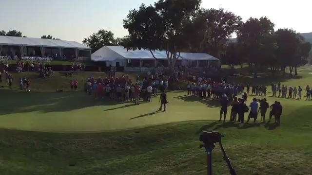 Video: 18th-hole ceremony