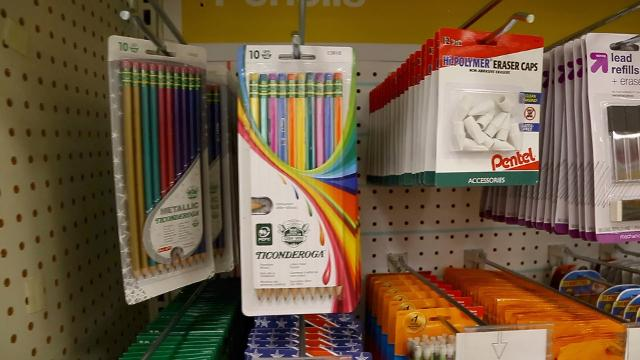 School supply shopping in August is the peak season for bargain hunters and those who want to be prepared for the first day of class.