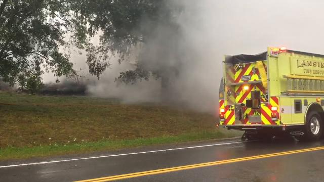 All three residents were able to evacuate a house at 470 Pleasant Valley Road that would be destroyed by a fire.