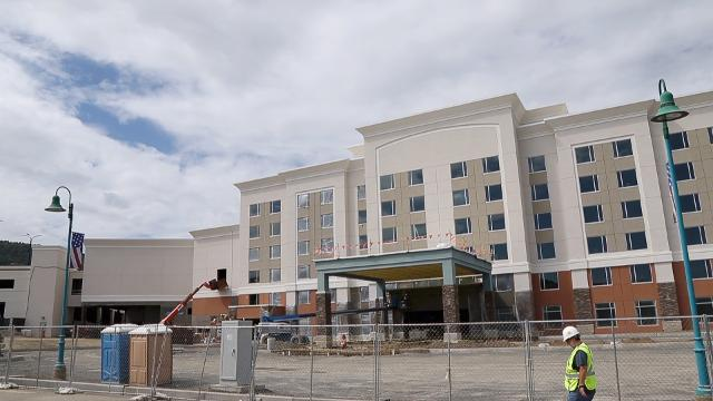 Tioga Downs plans to hold a grand opening for their 161 room hotel on November 3rd.  The hotel will boast amenities such as 3 swimming pools, a waterslide, a spa, fitness facilities, banquet hall and reception center.