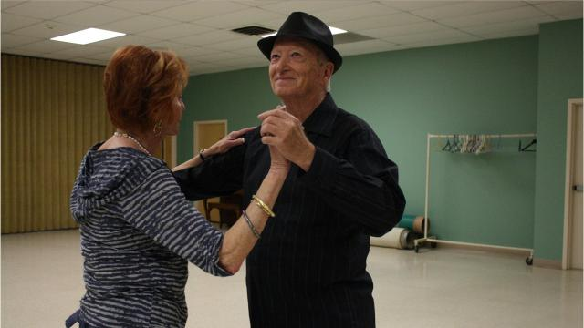 Francine Stein and Chuck Williamson taught us a basic swing and the rumba in honor of National Ballroom Dance Week.