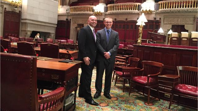 James Wyatt participated in the Students Inside Albany program in May.