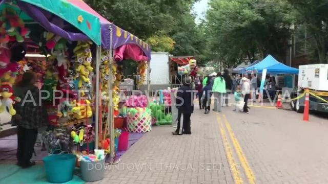 The 35th Annual Apple Harvest Festival is open from 10 a.m. to 6 p.m. on Saturday and Sunday in downtown Ithaca.