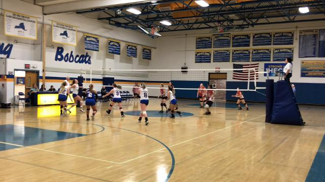 Host Lansing defeated Southern Cayuga in IAC girls volleyball on Wednesday, Oct. 11.