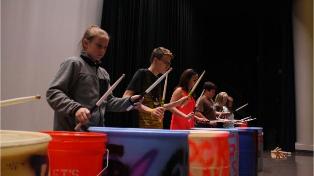 The Binghamton percussion group creates music solely out of household items.