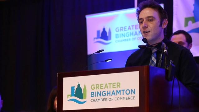 The Greater Binghamton Chamber of Commerce 21st Annual Community Thanksgiving Luncheon awarded the LUMA Projection Arts Festival, ACHIEVE and IBM Endicott for their contributions to our community.