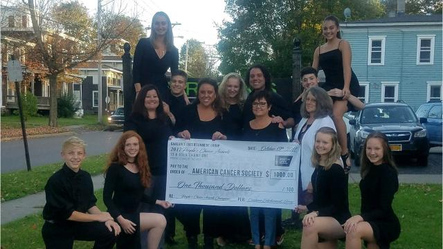 After earning $1,000 in prize money at the Candance national dance competition in Orlando,dancers from the Perkins School of the Arts donated their winnings to the American Cancer Society.