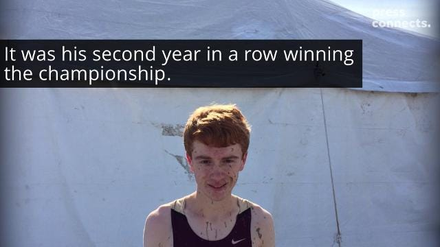 Nate Lawler is a two-time state champion in cross country.