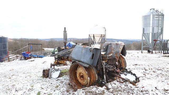 Doug & Pat Aukema's farm suffered a fire in October. The community rallied be hind them and they are thankful for it.