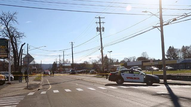 A school bus carrying 3 Binghamton Elementary students struck a pedestrian on Main Street near Matthews Street on Tuesday morning.  None of the students were injured, the condition of the pedestrian has not been released as of yet.