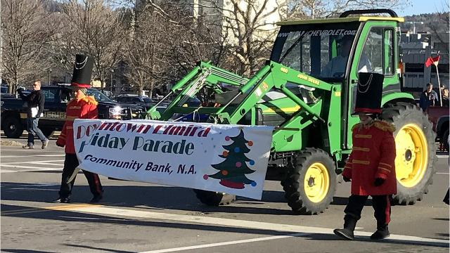 Elmira kicked off the Christmas season Friday with its annual downtown holiday parade.