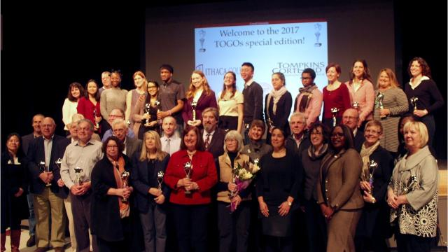 Cornell University held its seventh annual Town-Gown Awards at Ithaca High School on Saturday.