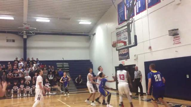 Oneonta High and host Chenango Forks play in the first quarter of Thursday's Southern Tier Athletic Conference game. The Yellowjackets won, 73-41.