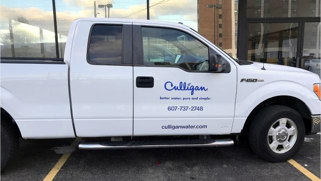 Culligan Water held a groundbreaking Wednesday at the former Williams Honda in downtown Elmira.
