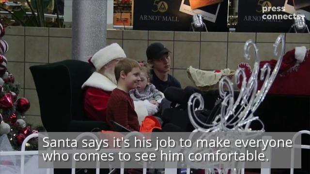 VIDEO: Being Santa no small task