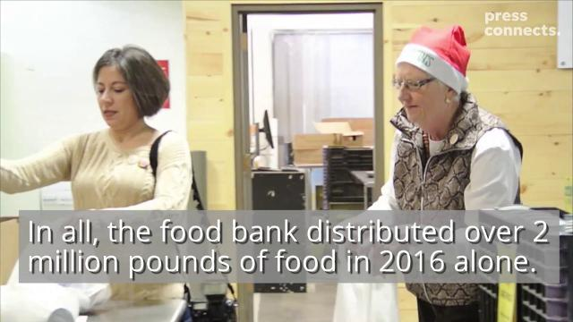 Steuben County officials and community leaders were on hand at the Food bank of the Southern Tier in Elmira Tuesday.